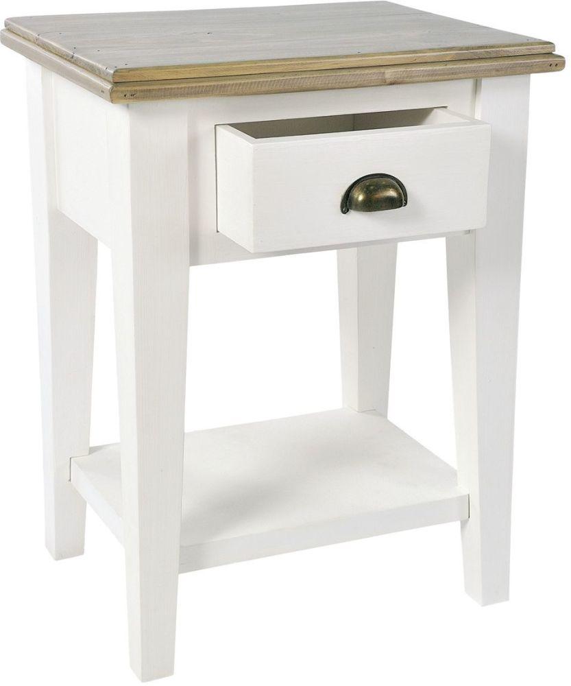 Monpellier 1 Drawer Bedside Table