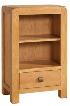 Avalon Bookcase Low With 1 Drawer
