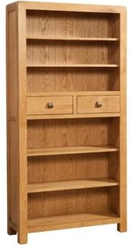 Avalon Bookcase Tall With 2 Drawers