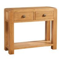 Nova Oak Console 2 Drawer