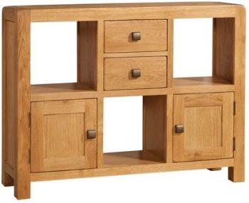 Nova Oak Unit Low Display 2 Doors & 2 Drawers