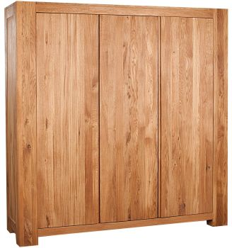 Loft Solid Oak Robe Triple