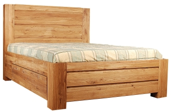Loft Solid Oak Bed Super King Size