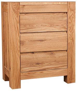 Loft Solid Oak Bedside Large