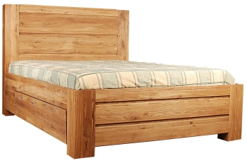 Loft Solid Oak Bed Double