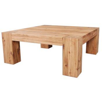 Loft Table Coffee Solid European Oak Oil Finish W1000mm   D1000mm
