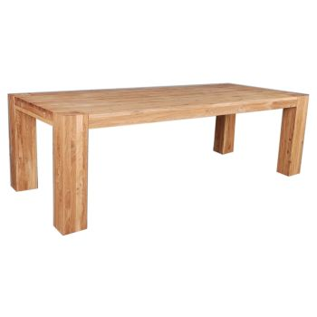 Loft Table Dining 1.8mtr Solid Europeon Oak Oil Finish