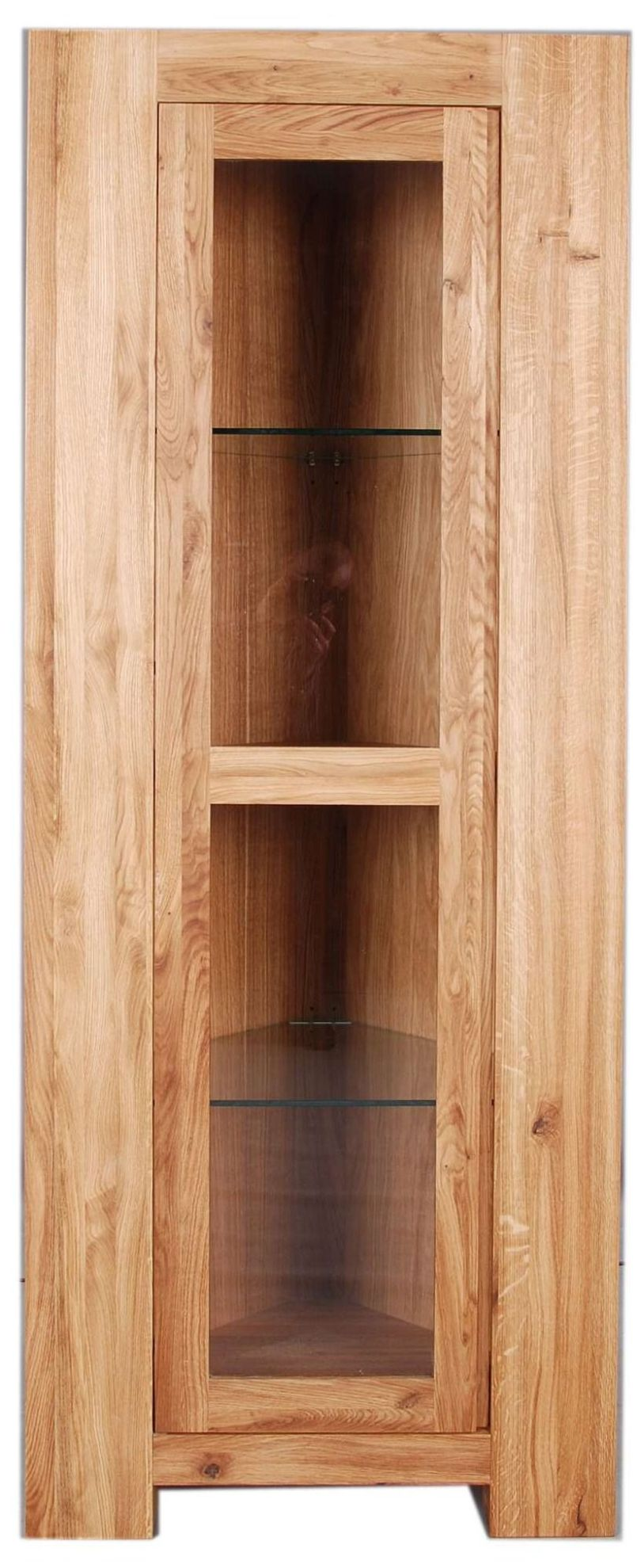 Loft Unit Display Glazed Corner Unit Solid European Oak Oil Finish