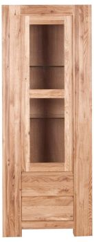 Loft Unit Display Glazed Single Unit Solid European Oak Oil Finish