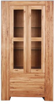 Loft Unit Display Unit Glazed 2 Door Solid European Oak Oil Finish