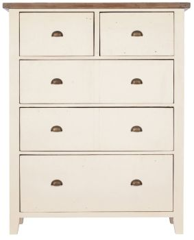 New Christy Painted Chest 5 Drawer