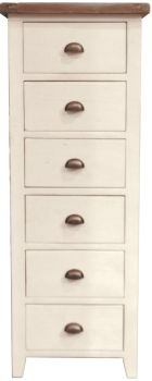 New Christy Painted Chest 6 Drawer Tall
