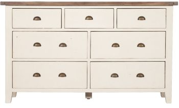 New Christy Painted Chest 7 Drawer Wide