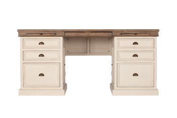 New Christy Painted Pedestal Desk Double