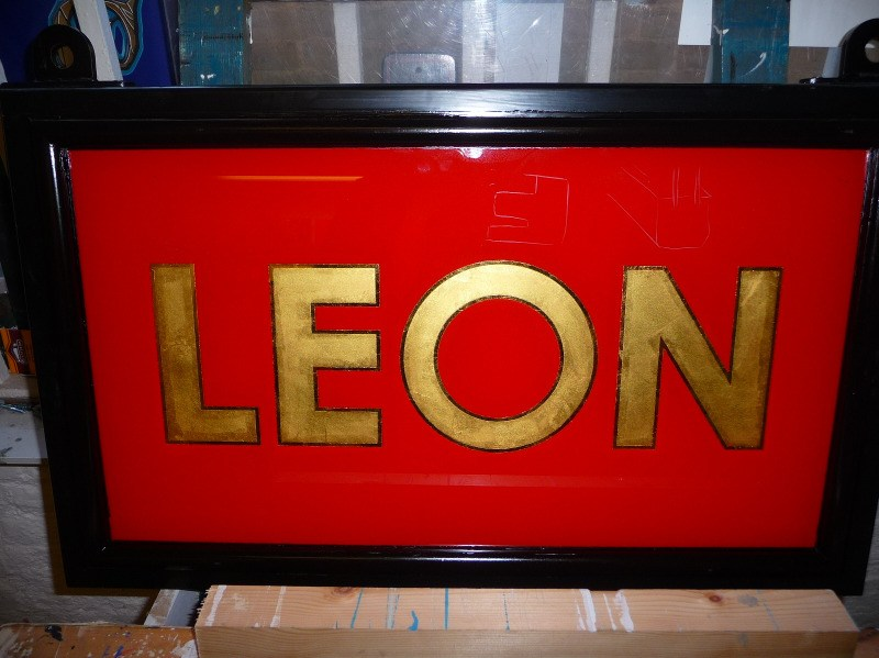 leon - glass gilding in a frame (2)