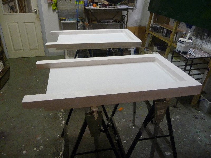 a-boards with first coat of undercoat