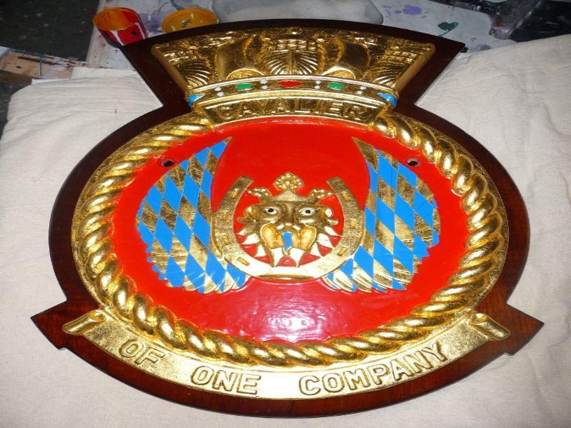 coat of arms complete gold leaf & enamel
