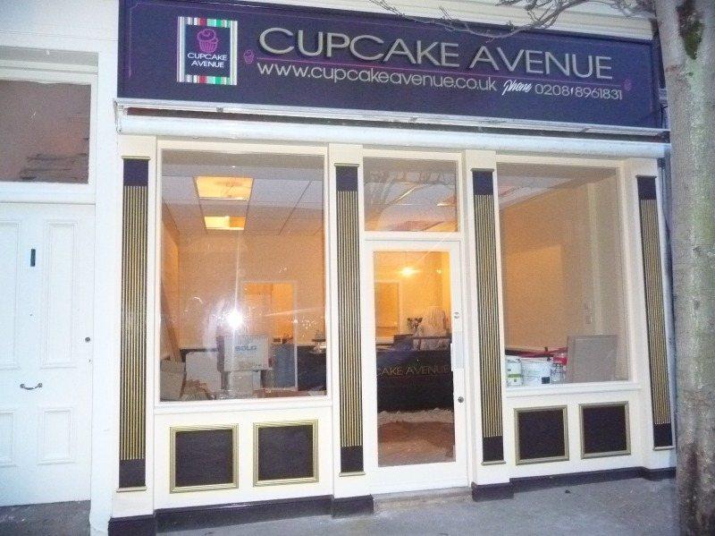 fascia - cupcake avenue acton london gold leaf & enamel