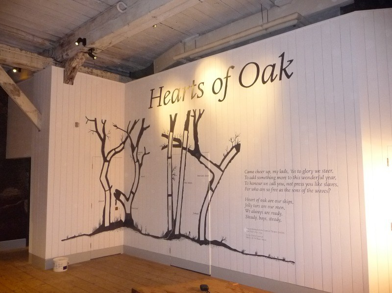 wall mural - chatham dockyard direct to wood 1