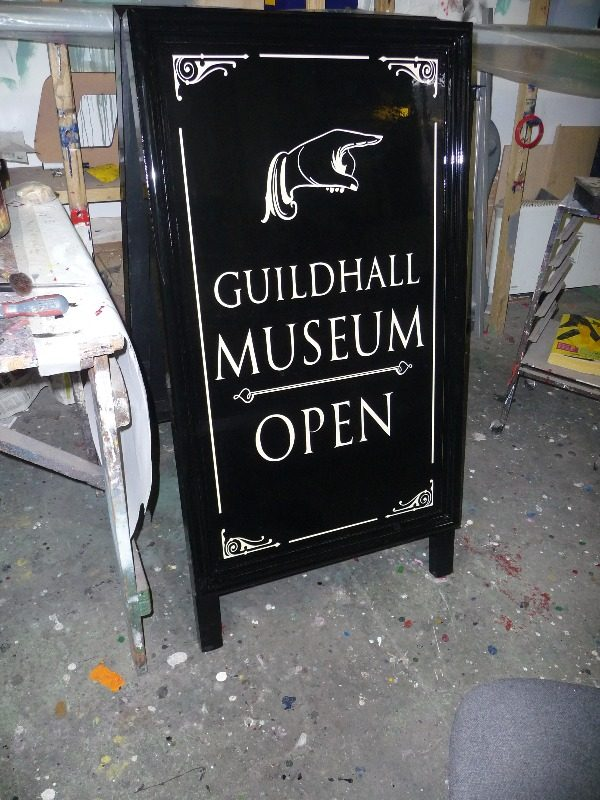 a-board guildhall museum rochester