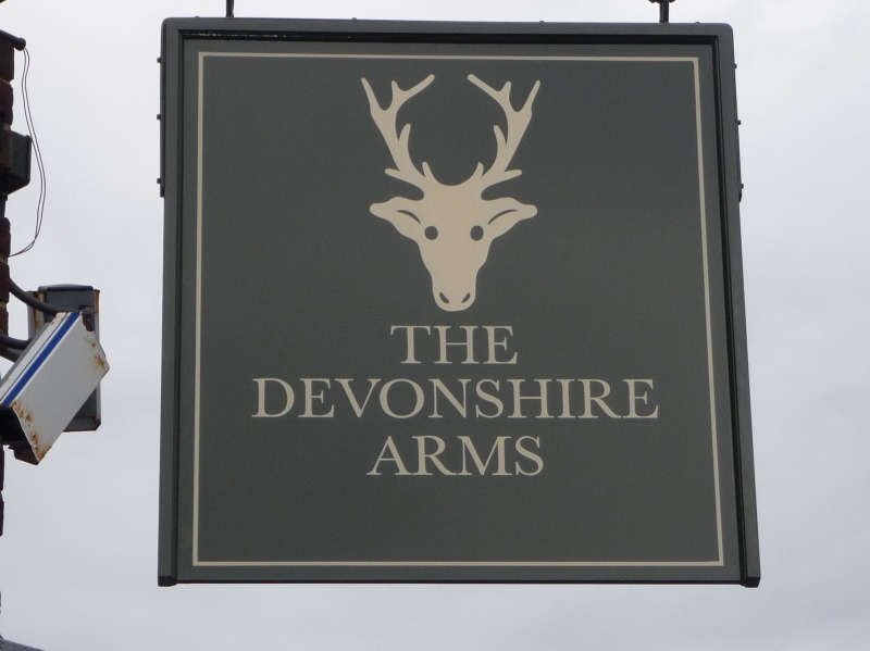 swing sign devonshire arms