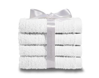 Catherine Lansfield Home Face Cloths, Pack of 4, - A