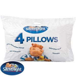 Silentnight Essentials Collection Pillow, Pack of 4 - A