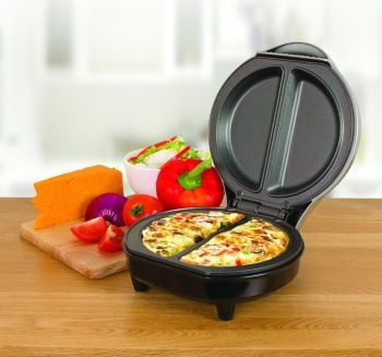 Quest Non-Stick Cool Touch Dual Omelet Maker, 700 W