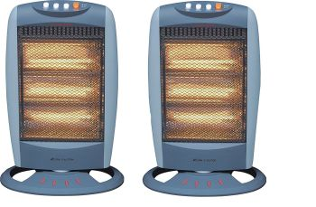 Acorn pack of 2 Oscillating Halogen Heater - 1200W - Tilt Safety Cut Off - A