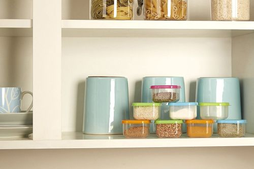 Premier Housewares Mini Storage Containers - Multi-Coloured, Set of 8 - A