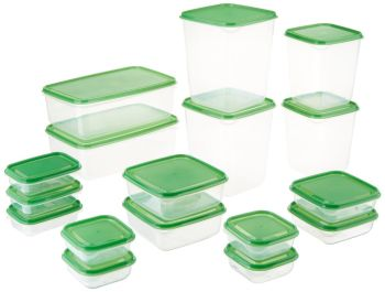 Pruta Plastic/Food Storage Containers, 17-Piece - A