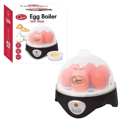 Electric Egg Cooker Boil/Poach with 7 Egg Capacity, 360 W - A