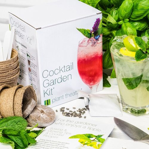 Plant Theatre Cocktail Garden Kit 6-Varieties to Grow - A