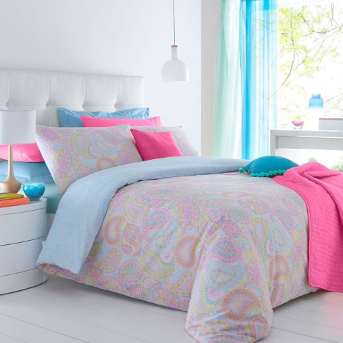 Pieridae Paisley Multi Duvet Cover & Pillowcase Set Bedding - A