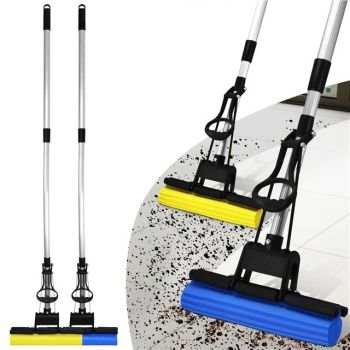 SUPER ABSORBENT CLEANING SPONGE MOP LAMINATE HARD FLOOR TELESCOPIC SPONGE HANDLE - AB