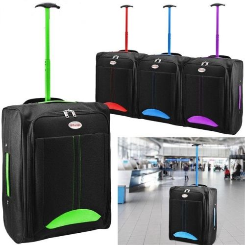 CABIN TRAVEL BAG WHEELED LIGHTWEIGHT SUITCASE HAND LUGGAGE - AB