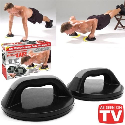 Push Up Pro Gym Workout Chest Abs Arms Press Rotating Grips Excercise Upper