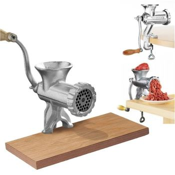 HEAVY DUTY HAND OPERATED MEAT MINCER GRINDER - AB
