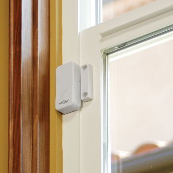 4 X WINDOW & DOOR BURGLAR INTRUDER ALARMS WIRELESS SENSOR - A