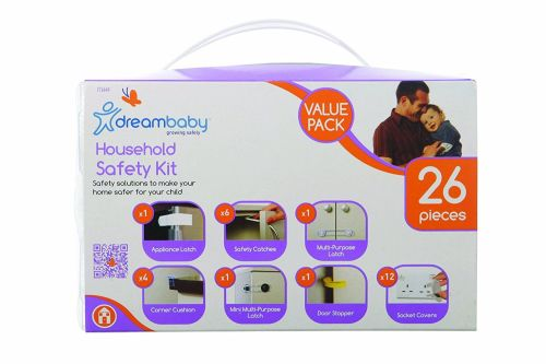 Dreambaby Household Safety Kit Value Pack (White, 26 Pieces) - A