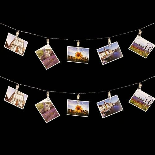 Peg String Lights - Battery Powered - Warm White LEDs - 2m - A
