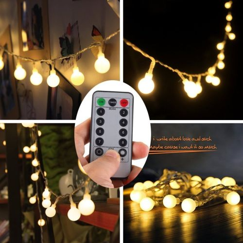 [Remote & Timer] 5 Meter 50 LED Outdoor Globe String Lights - A
