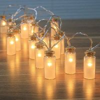 8 Modes Vintag Glass Jar LED With 20 Warm White - A
