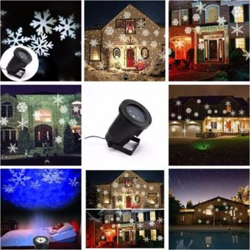 Led Projector Lights Moving Landscape Garden Lamp Outdoor - AB