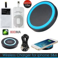 Qi Wireless Charger Charging Pad With Receiver For iPhone 6S 6 plus 5 5S Samsung - AB