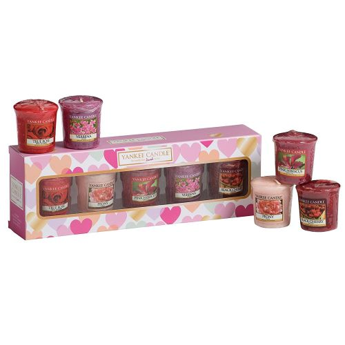 Yankee Candle Valentines Votive Gift Set, Multi-Colour, Set of 5 - A