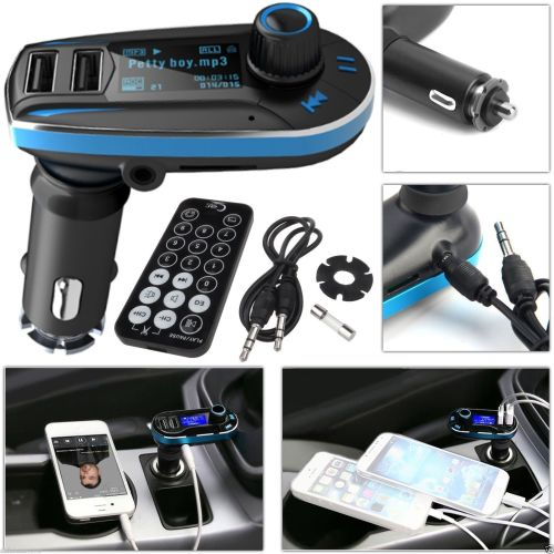 Car Wireless FM Transmitter Audio Mp3 Player Charger USB Kit For AllMobile