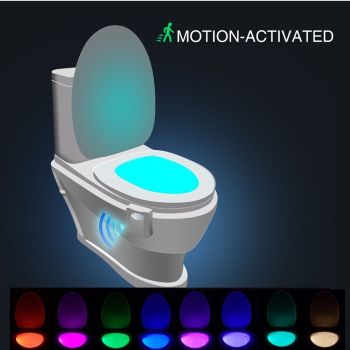 LED Toilet Night Light 8 Colour - AB