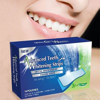 28 Advanced Teeth Whitening Professional White Strips - Ab