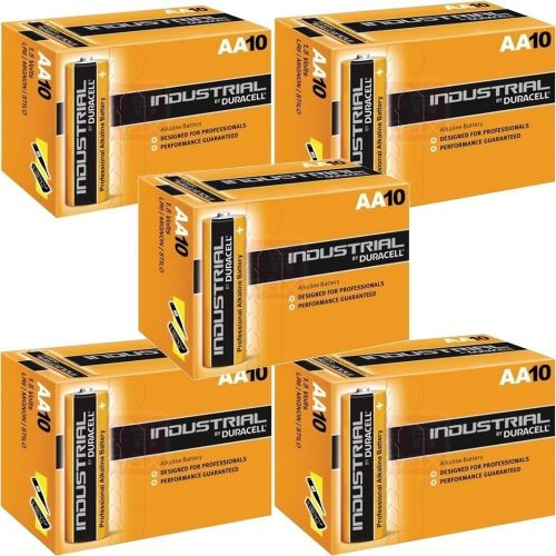 Duracell AA Industrial Alkaline Battery (Pack of 50) - A